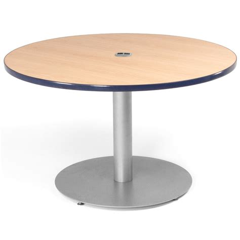 table ls with outlets in base smith system round cafe table w circular base power 36