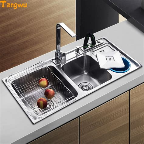Steel Wash Basin For Kitchen by Tangwu Dual Trough Sink Kitchen Stainless Steel Wash Basin