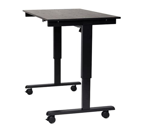 luxor 48 electric standing desk low price on luxor stande 48 bk bo standing desk toolpan com