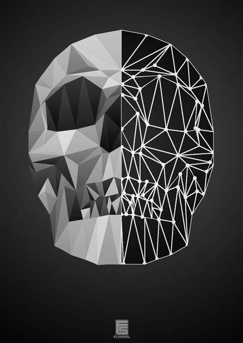 Skull Low Poly by floridelsalamat.deviantart.com on
