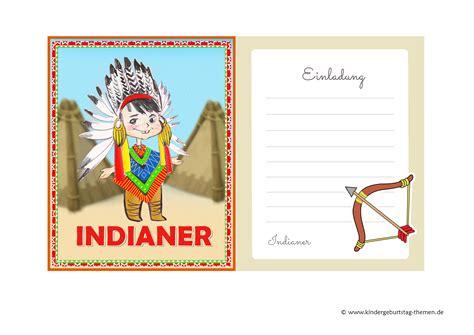 indianer einladung zum kindergeburtstag oder party