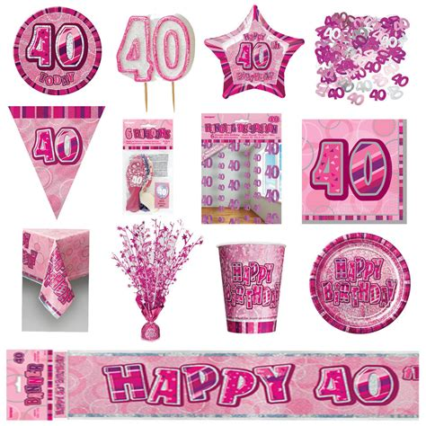 40th pink glitz birthday party supplies decorations