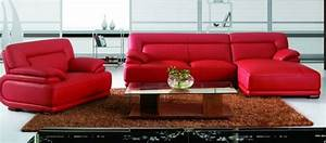 modern red leather sectional sofa with chair modern With red leather sectional sofa contemporary