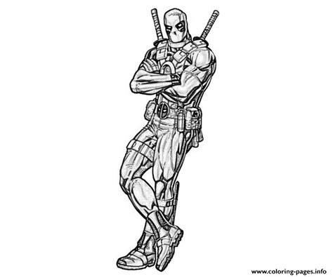 deadpool drawing coloring pages printable