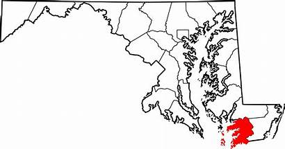 Somerset County Maryland Map Historic Wikipedia