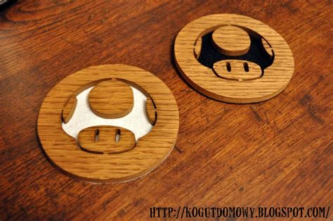 mario mushroom wooden coasters  steps  pictures