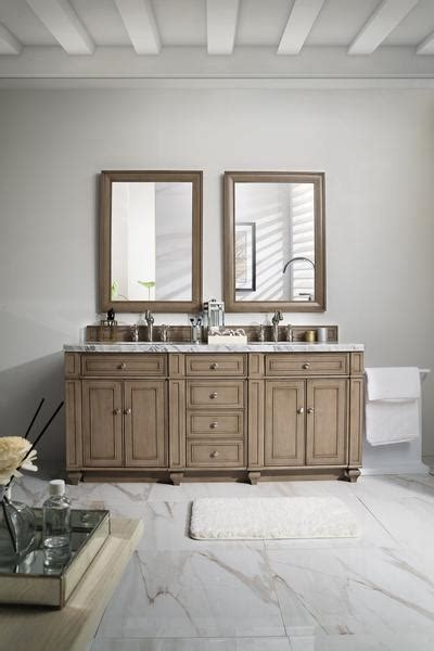 bristol whitewashed walnut double bathroom vanity