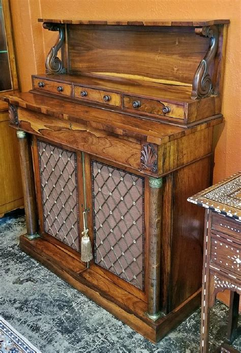 century british regency bureau chiffonier  manner