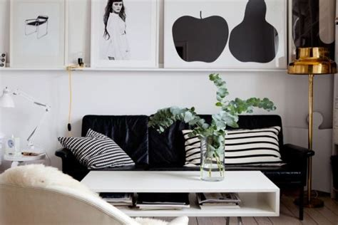 Black And Decor - beautiful black and white d 233 cor in a small apartment