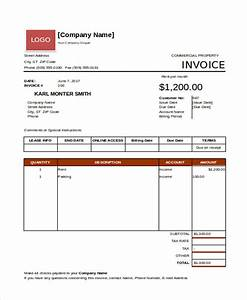 Rent invoice templates 8 free samples examples format for Rental property invoice template