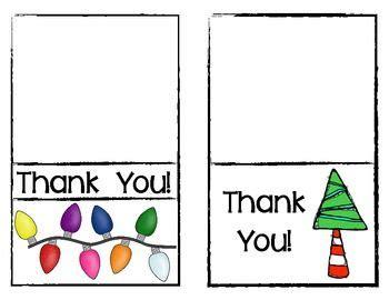 freebie christmas thank you cards for teachers december christmas thank you preschool