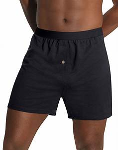 Hanes Men S Tagless Knit Boxers With Comfort Flex
