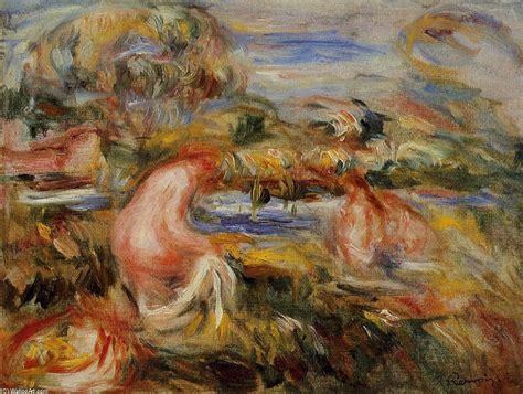Deux Baigneuses Dans Un Paysage Pierre Auguste Renoir