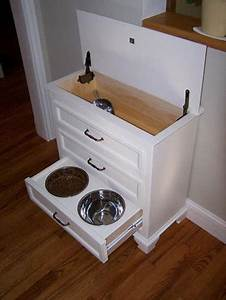 Turn A Dresser Into A Pet Feeding And Care Station  Easy