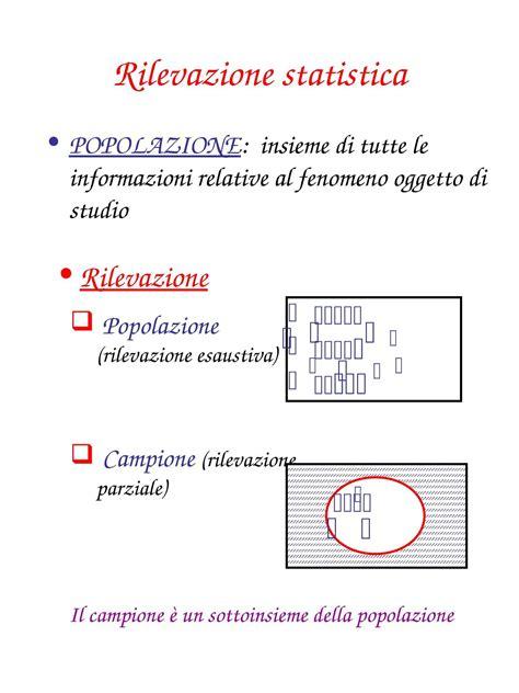 statistica dispense rilevazione statistica dispense