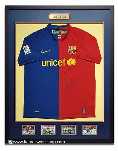 Sports Jersey Framed Examples Messi Plaque Brass