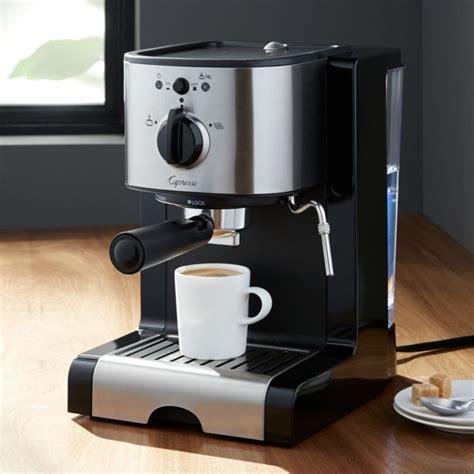 capresso ec espresso machine reviews crate  barrel
