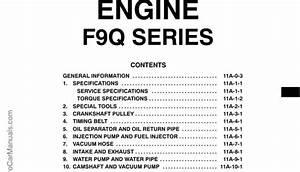 Mitsubishi Engine F9q Series Workshop Manual