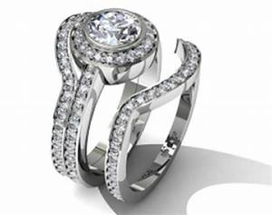actually my dream ring circle cut diamond with a halo on With wedding band that goes around engagement ring