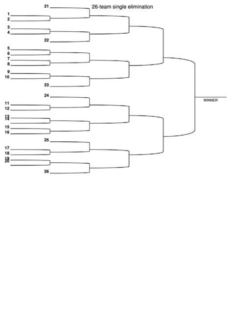 team single elimination bracket printable