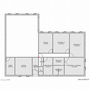 maison plain pied 120m2 plan 12 pieces 76 m2 dessine par With plan maison plain pied 120m2