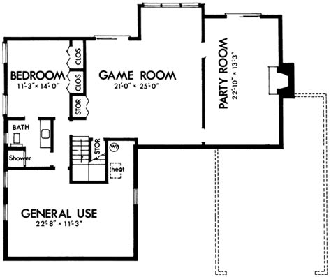 Contemporary House Plan  4 Bedrooms, 2 Bath, 1560 Sq Ft