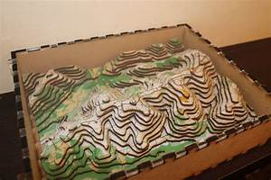3D Orienteering Map Wooden Accurate Topographical Map