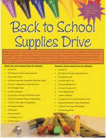 Back to School Supply Drive Ideas