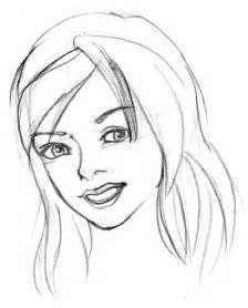 Girl Face Sketch Drawing