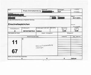 Dhl Rechnung : sammlerm nzen aus dem vatikan ein fall f r den zoll ~ Themetempest.com Abrechnung