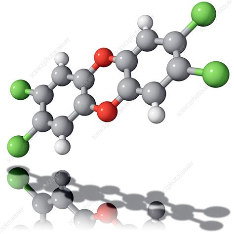 In popular terminology, dioxin has become a synonym for one specific dioxin, TCDD dioxin molecule - Stock Image - A654/0041 - Science ...