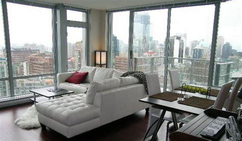 striking downtown furnished condo  elan vancouver