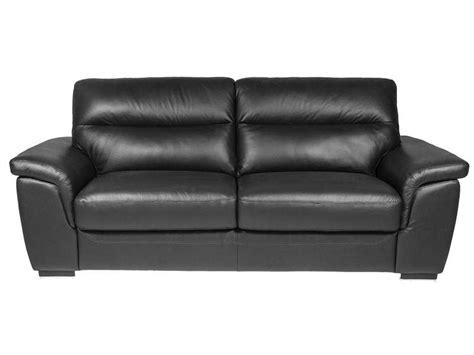 canap en cuir noir canapé fixe 3 places en cuir coloris noir vente