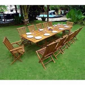 Salon Jardin Teck : ensemble de jardin en teck huil mobilier de jardin table ~ Melissatoandfro.com Idées de Décoration