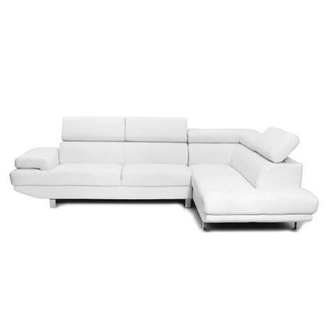 canape d angle cuir blanc miliboo canapé d 39 angle en cuir blanc avec têt achat