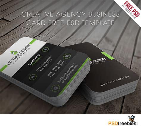creative agency business card  psd template