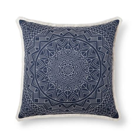 target threshold pillows blue metallic oversized throw pillow threshold target
