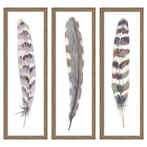 "31 results for umbra wall decor. 12""X36"" Framed 3-Pack Feathers | Feather wall decor, Feather wall art, Feather decor"