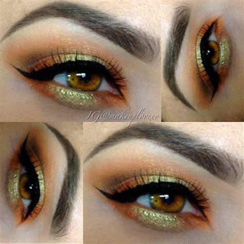orange eye makeup ideas  tutorials pretty designs
