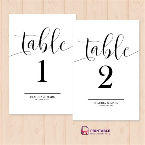 table number place cards table numbers free printable pdf template easy to edit