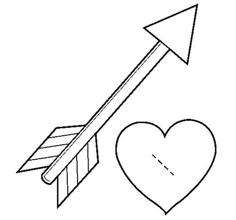 disegno  freccia  cuore da colorare acolorecom