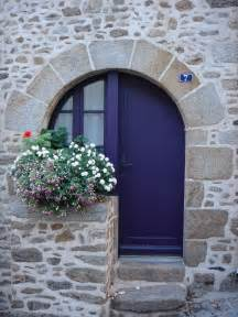 Blue House with Stone Front Door
