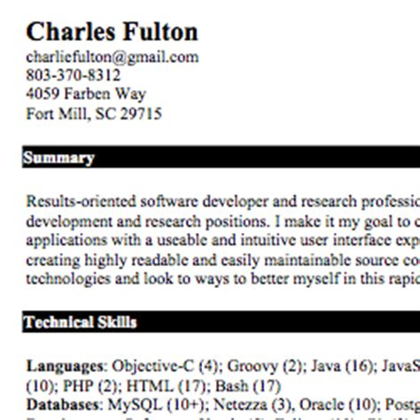 it support resume sle template with summary of