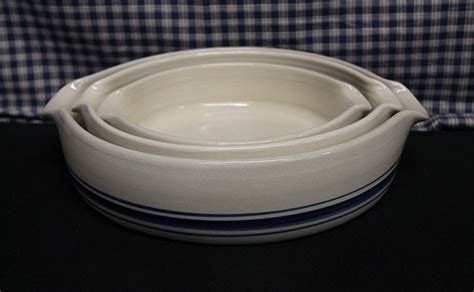 baking dish usa stoneware pottery three lead pc