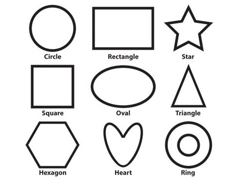 basic shapes printable coloring page toddler activities