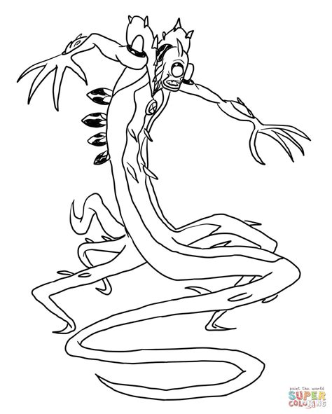 Ben 10 Wildvine Coloring Page Free Printable Coloring Pages
