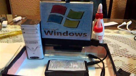 maqueta de computadora retro