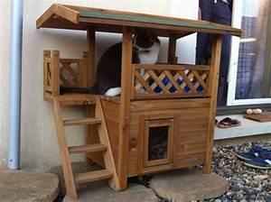 Maison Pour Chat Extérieur : maisonnette pour chat lodge couchage chat ~ Premium-room.com Idées de Décoration