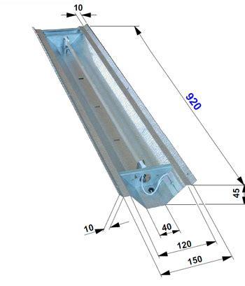 le infrarouge philips vitae 750w angle infradesign l