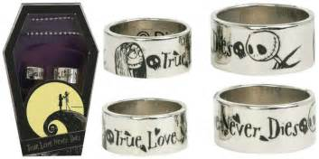 nightmare before wedding rings the nightmare before his and wedding ring set with coffin box ebay